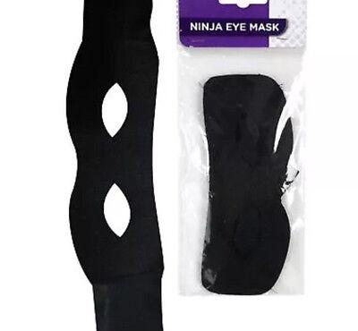 Black Thief Ninja Halloween Eye Mask Trick Kids age 5+ years Bandit Eye Mask