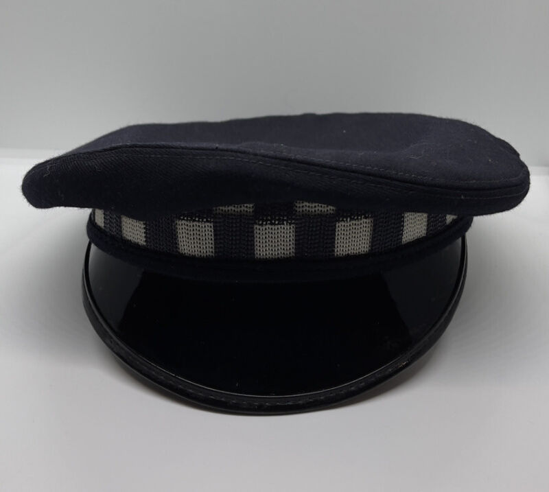 Vintage Official Chicago Police Department Hat - Midway - Size 7-1/8 W/ Checker