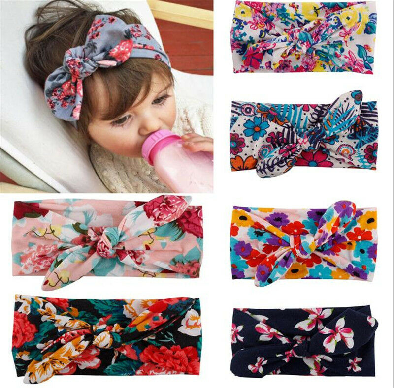 3pcs Newborn Headband Ribbon Elastic Baby Headdress Kids Hair Band Girl Bow f8