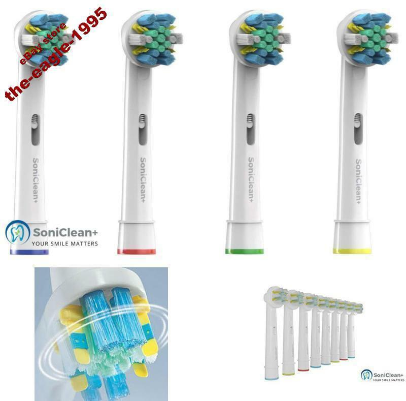 4 Pack Brush Heads Refill for Oral-B Pro 1000 3000 5000 Toot