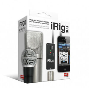 Sealed Smartphone compatible iRig Pre Audio recording device
