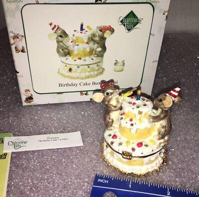 "Charming Tails ""HAPPY BIRTHDAY BOX WITH MINI"" DEAN GRIFF NIB"