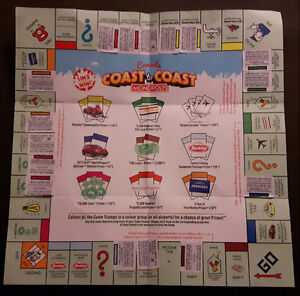 McDonalds Monopoly Board Nearly Filled
