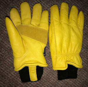 New Leather Deerskin TERRA Winter Working Gloves 3M Thinsulate