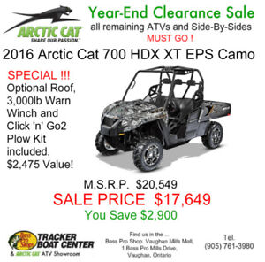 New 2016 Arctic Cat HDX 700 Camo Side-by-side