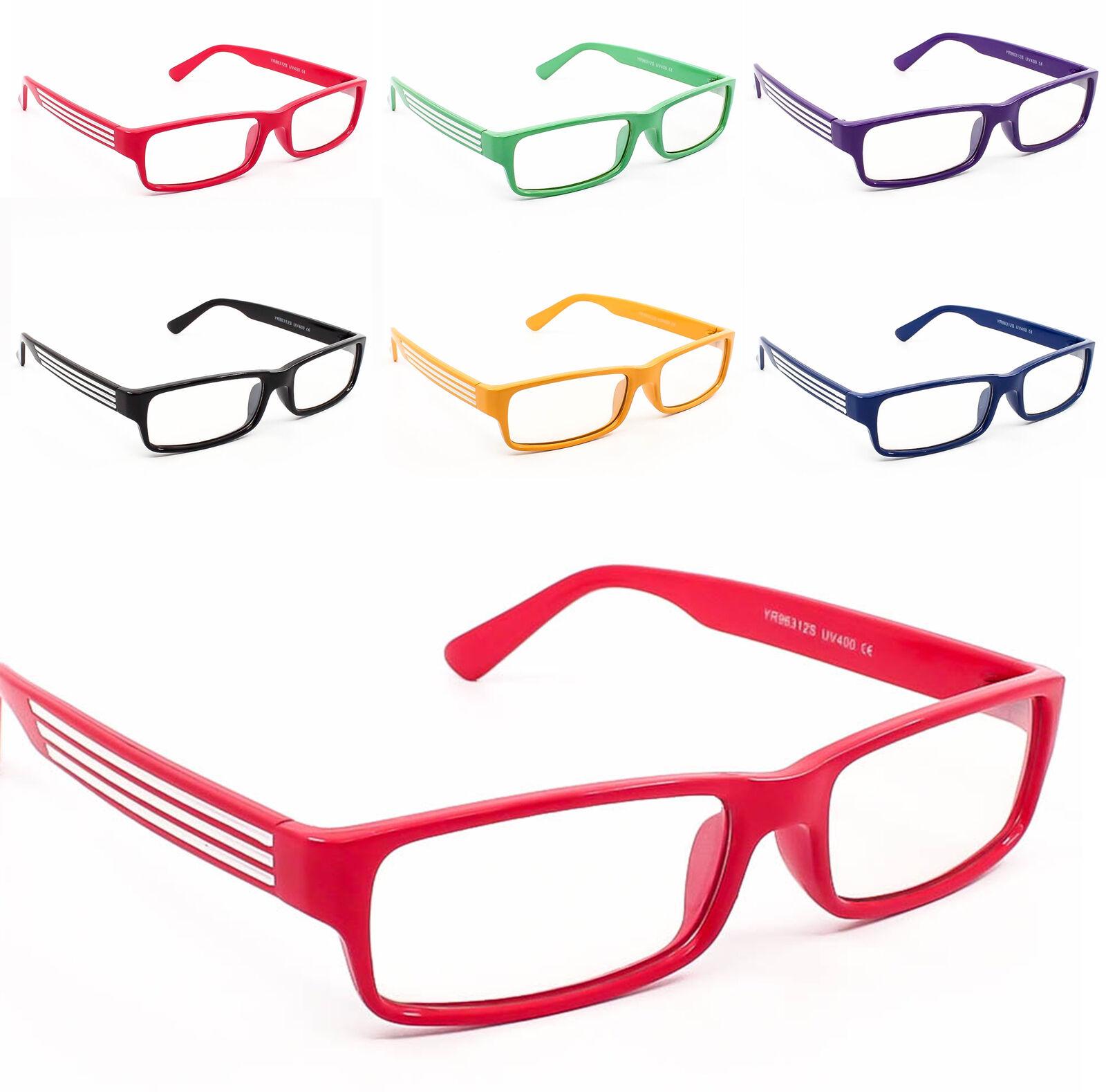 rechteckige Rahmen Klarglas Brille Geek Nerd Brille Brillengestell ...