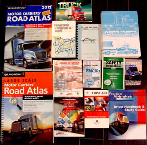 Assorted truck driving books