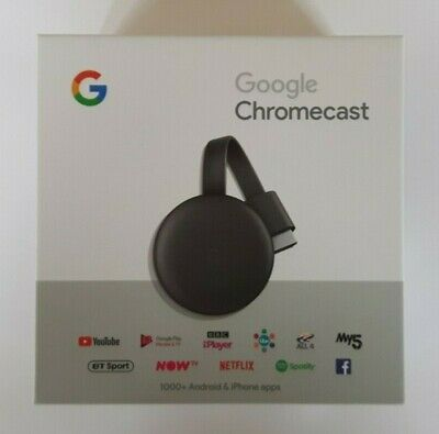 Google Chromecast (3rd Generation) - 1080p HD Media Streaming