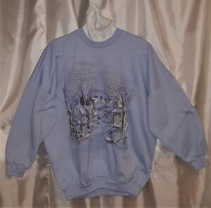 Vintage Winter themed turtle neck sweater