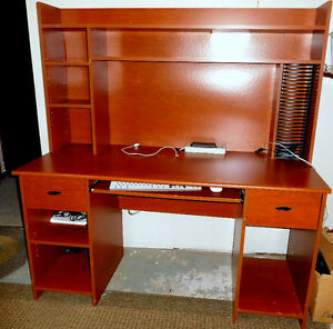Large Desk with built in bookcase/storage