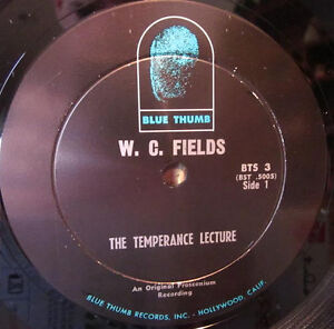 W.C. FIELDS - Authentics Recordings of the Great... *RARE VINYL* Kitchener / Waterloo Kitchener Area image 3