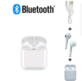 Bluetooth wireless white in-ear headphones