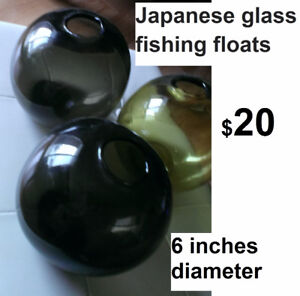 Japanese glass fishing balls decor