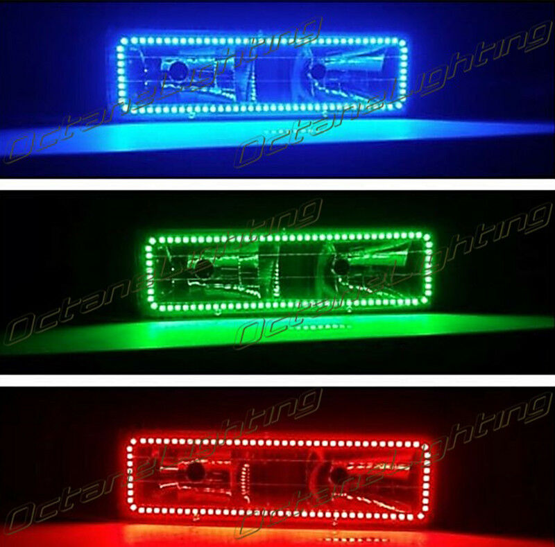88-98 Chevy GMC Truck Color Changing LED RGB Upper Headlight Halo Ring One Each
