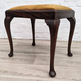Queen Anne Style Stool (DELIVERY AVAILABLE)