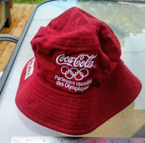 0722028f2f978 Roots Canada Coca Cola Olympic Partner Red Bucket Hat One Size C