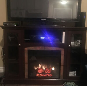Electric fireplace entertainment stand, $120