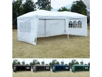 Costway UK 3X6M Pop Up Gazebo Wedding Party Tent Canopy Marquee Waterproof W/ 4 Wall Sides