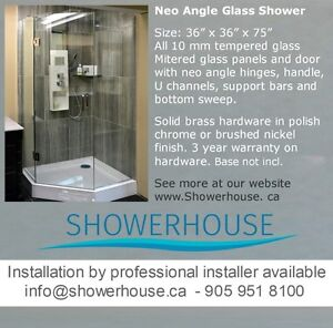 Glass Shower, Neo Angle Glass Shower Enclosure, only $ 599.00