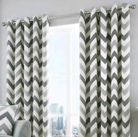 100% Cotton Chevron Zig Zag Curtains