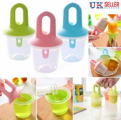 Ice Lolly Cream Juice Yogurt Maker pop Mold Mould Icebox Kitchen DIY UK Stock