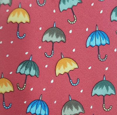 AUTHENTIC Hermes Classic Umbrellas Raindrops RED Silk Tie - NEW & SUPER RARE