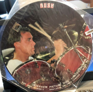 Rush - Limited Edition Interview Picture Disc - Vintage Vinyl