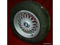 "BMW E32 E34 BBS 15"" Alloy Wheels 535i 530i 525i 525tds 520i 735i 740i 730i E28 525e"