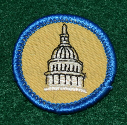 GIRL SCOUT WORLDS TO EXPLORE BADGE - BLUE - ACTIVE CITIZEN