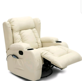 Brown or Cream Electric recliner Armchairs New free local delivery