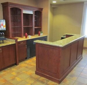 Bar with Granite Counter & Hutch - Beautiful - Nice Pieces Cambridge Kitchener Area image 1