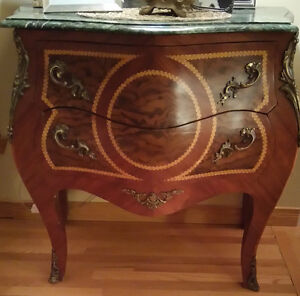 Console- table- antique marbletop console