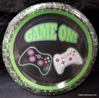 - GAME ON Party Birthday Plates Cake Decoration Dessert Supplies TRUCK Videos 10PC