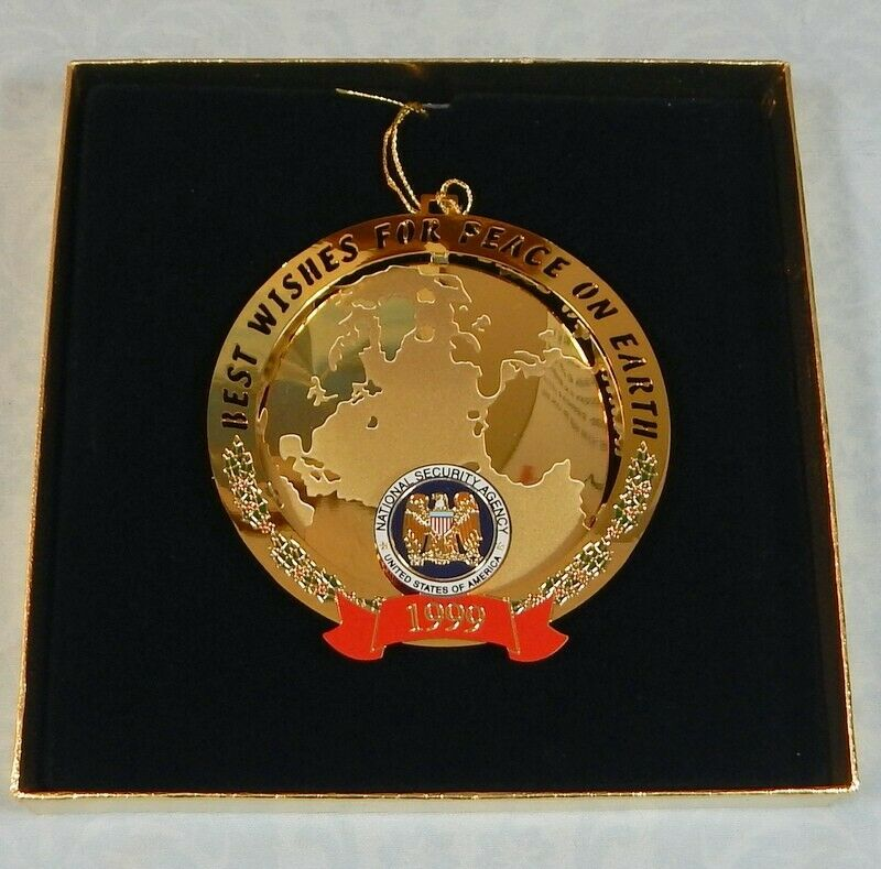 NSA National Security Agency 1999 Christmas ornament