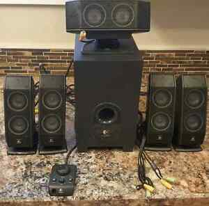 Logitech multimedia computer speakers w/ subwoofer