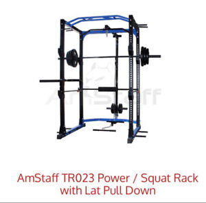 Squat Rack with Lat Pull Down