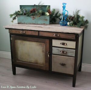 Refinished antique bakers cabinet