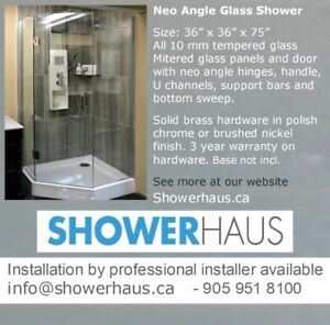 Frameless tempered Glass Shower,Neo Angle Glass Shower Enclosure