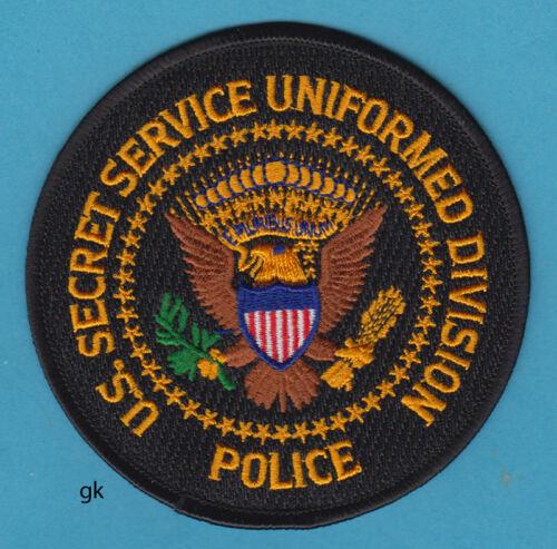 SECRET SERVICE UNIFORMED DIVISION POLICE SHOULDER PATCH  (Black)