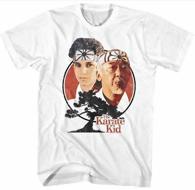Karate Kid Daniel Larusso & Mr Miyagi Bonsai Tree Adult T Shirt Great Movie (Karate Kid Mr Miyagi)
