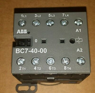 Abb Bc7-40-00 16a 600vac Mini Contactor New