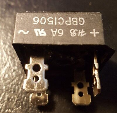 Gbpc1506 Bridge Rectifier Single Phase 15a 600v Used In Ridgid Mod K-30 5a4b