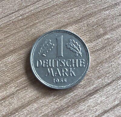 1 DM 1955 J Deutsche Mark in Kapsel BRD
