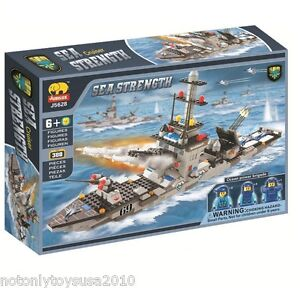 388pcs Navy WarShip (B)  - Building Blocks ( Lego ) Brick Set #5628 + Free Gift