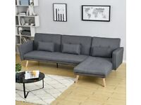grey corner sofa bed left/right NEW Delivery available