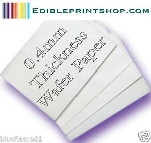 100 Sheets Edible Wafer / Rice paper for printing