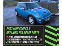 2002 MINI COOPER S BREAKING FOR SPARES PARTS
