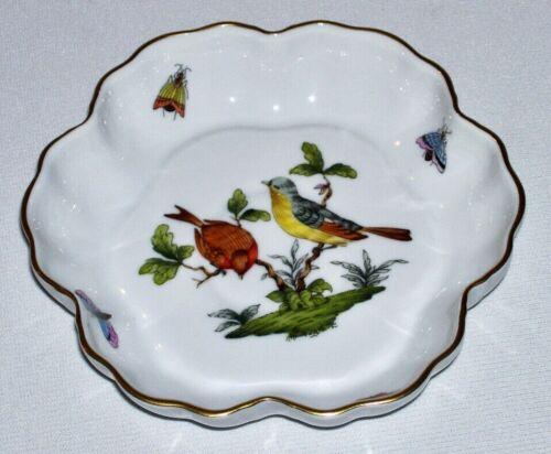 "HEREND ~ Quality Porcelain 5.5"" MELON BOWL (Rothschild Bird w/24K) ~ Hungary"