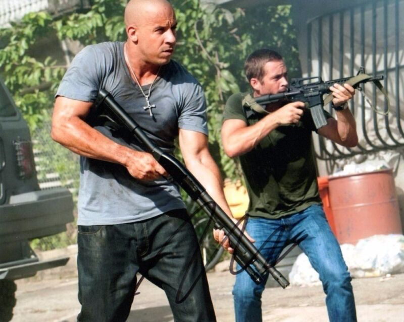Vin Diesel Fast & Furious Autographed Signed 8x10 Photo COA #2