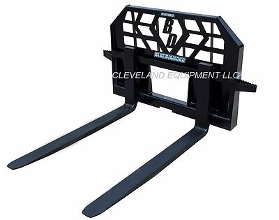 New Blue Diamond Skid Steer Loader Pallet Forks - 5000 Lb Capacity